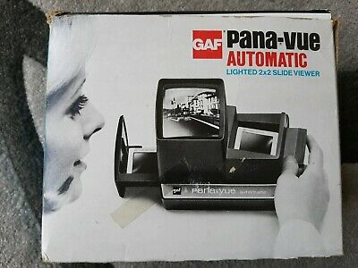 GAF Pana-Vue Automatic Slide Viewer with user guide - Boxed. Vintage