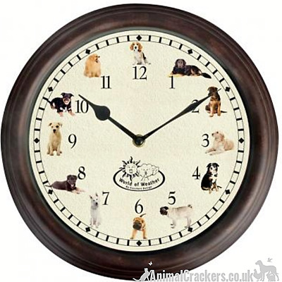 DOG BARKING SOUNDS CHIMING WALL CLOCK Pug Collie Beagle Labrador etc lover gift