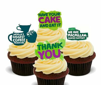 Macmillan World's Biggest Coffee Morning - Edible Cupcake Toppers - Stand-up ...