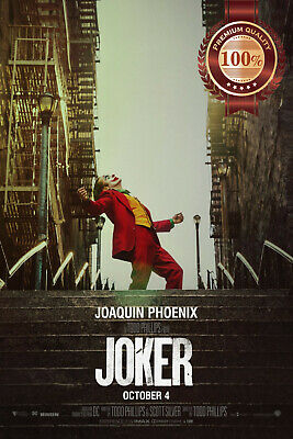 New Joker 2019 Dancing Dc Official Original Cinema Movie Print Premium Poster