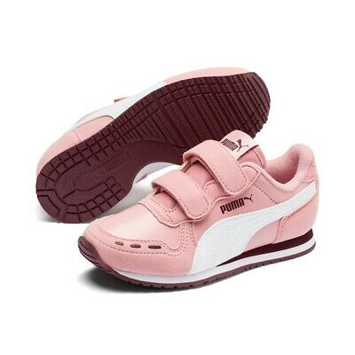 Puma Cabana Racer Sl V Ps Kids Trainers Shoes Pink 360732 79