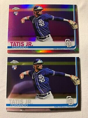 2019 Topps Chrome Fernando Tatis Jr Pink Refractor RC SP + Base RC #203 🔥🔥🔥