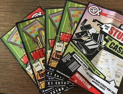 Cex 1 Pound Credit Voucher 5 Pieces(only Can be Used In Camden Branch,London)