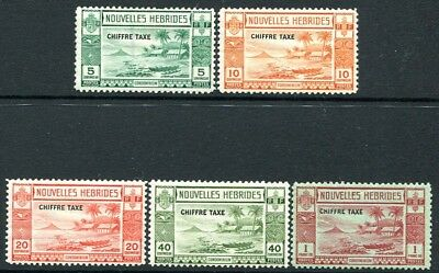 NEW HEBRIDES (FRENCH ISSUE)-1938 Postage Due Set of 5 Values Sg FD65-69 M/M