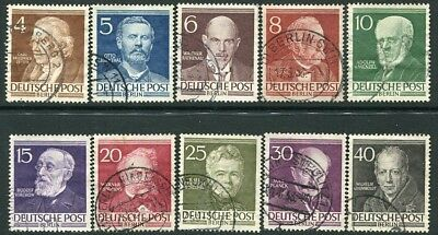 WEST BERLIN-1952-57 Famous Berliners Set of 10 Values Sg B91-B100 FINE USED