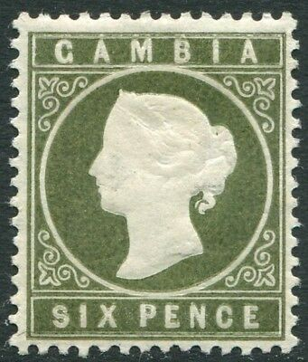 GAMBIA-1889 6d Bronze-Green Sg 33  MOUNTED MINT V22522