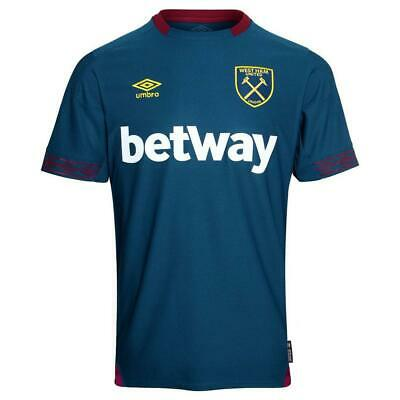 West Ham United Away Shirt Umbro Mens Blue Football Jersey 2018 19