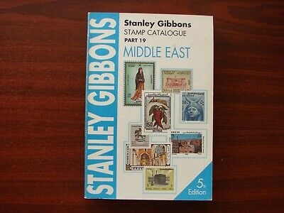 Stanley Gibbons vintage stamp catalogue No 19 Middle East 5th edition 1996