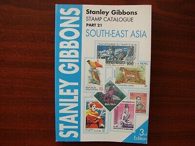 Stanley Gibbons vintage stamp catalogue No 21 South East Asia 3rd edition 1995