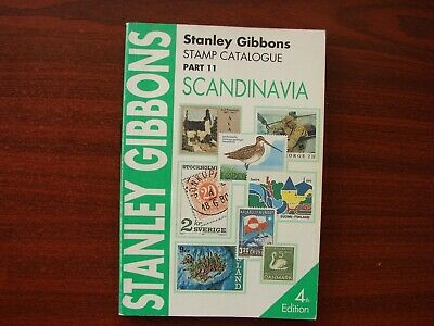 Stanley Gibbons vintage stamp catalogue No 11 Scandinavia 4th edition 1994
