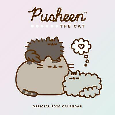 Calendar Pusheen 2020 Official Square Cartoon Girls Cat Sticker Gift