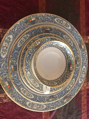China: lenox autumn 12 complete 5 piece place settings  with 5 servivng dishes