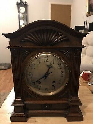 Stunning Figured Walnut Cased Lenzkirch Ting Tang Bracket Clock