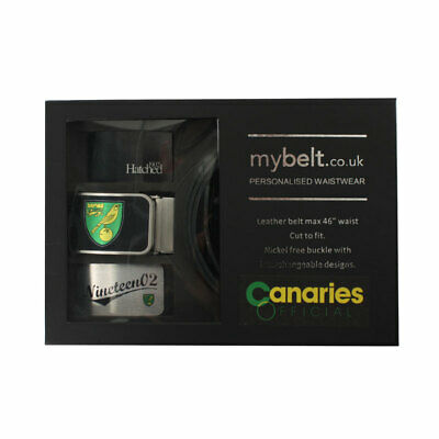 Official Norwich City Fc Belt With Inserts