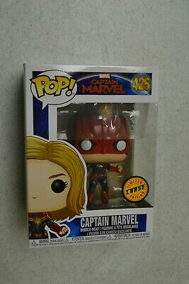 Funko Pop Marvel Captain Marvel Movie Masked Captain Marvel Chase Bobble Head
