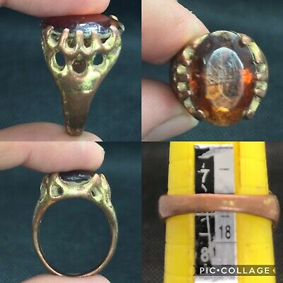 Excellent rare Post medieval wonderful brass ring