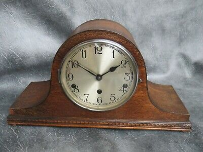 A GOOD CLEAN HALLER WESTMINSTER WHITTINGTON CHIME MANTLE CLOCK c1930 *SERVICED*