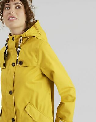 Joules Womens Coast Waterproof Coat in ANTIQUE GOLD Size 18