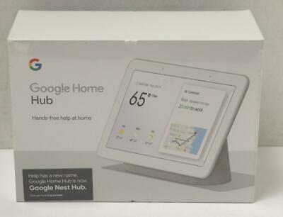 """NEW - Google Home Hub with Google Assistant Smart 7"""" Display - Chalk Grey"""