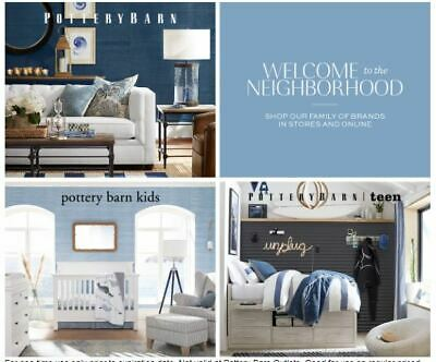 Pottery Barn 15% OFF Entire Purchase In Store or Online Expires 10/31/2019