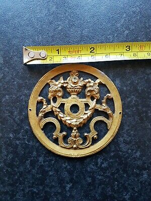Antique Gold Guilded Clock Face Centre. Nice Item