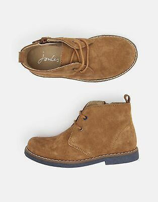 Joules Boys Woodland Lace Up Casual Boots in TAN Size Childrens 9