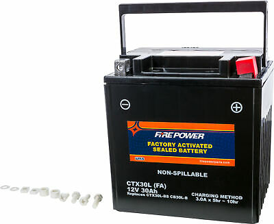 Fire Power Ctx30L Factory Activated Battery For Arctic Cat Prowler & Wildcat Nib