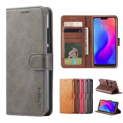 Magnetic Flip Leather Wallet Case Cover for Mi 6X A2 Redmi 4X 5 Plus 6 Pro 6A