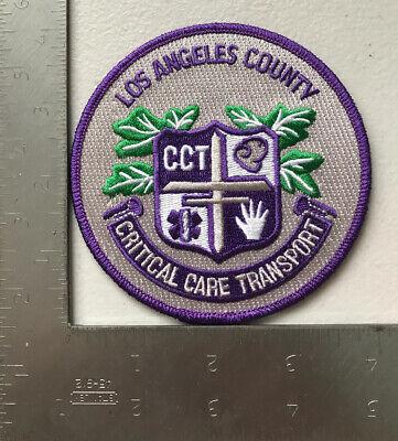 Los Angeles County California Critical Care Trans Firefighter Paramedic Patch Ca