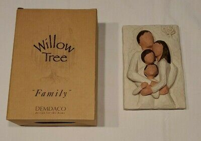 "Willow Tree 2001 ""Family"" A Lifetime of Love Figurine Wall Plaque"