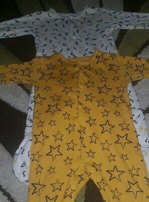 Baby boys sleepsuits 6-9 months