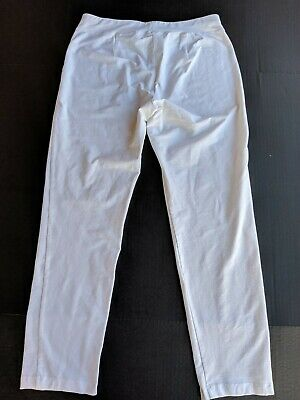 EILEEN FISHER White Viscose Blend Pull on Pants Size S Small Made USA NWOT