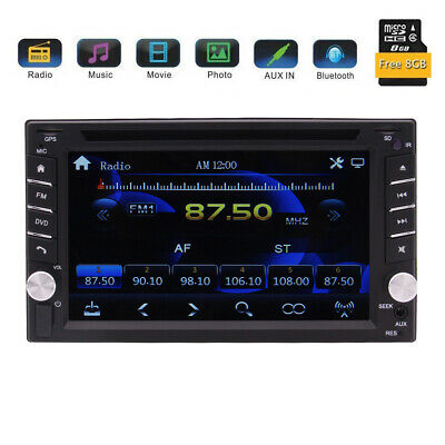 "HD 6.2"" Double 2Din In Dash Car Stereo DVD Player GPS Navigation BT Radio SD/USB"