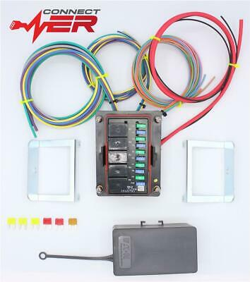 Universal Distribution Panel Fuse Box 10 Circuit 24V Wired With 35A Relays