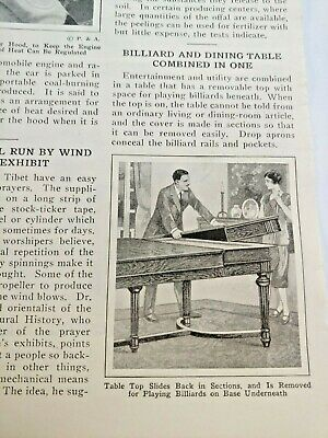 Mar 1929 Magazine Page #A207- Billiard And Dining Table Combination