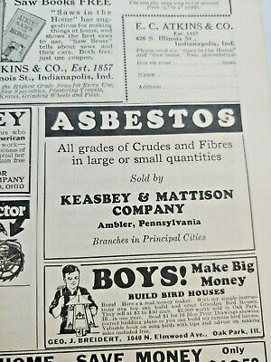 Mar 1929 Magazine Page #A190- Asbestos- All Grades Of Crudes And Fibres