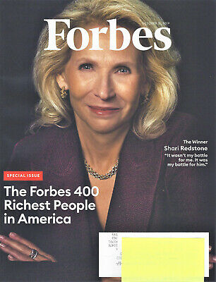 Forbes Magazine - The Forbes 400 Richest People in America - October 31, 2019