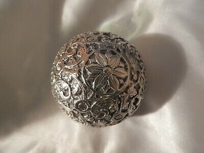 Antique Antique-Islamic-Turkish-Ottoman-Solid-Silver-Jewelry-Box/ tea box sphere