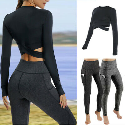 Women's Compression Fitness Leggings Skinny Yoga Gym Pants Workout Active Wear Q