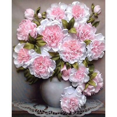 H3E# 5D DIY Full Drill Diamond Painting Flower Cross Stitch Embroidery Mosaic
