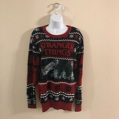 Stranger Things Men's XL LED Light Up Ugly Christmas Sweater w//Tags Unisex ABC