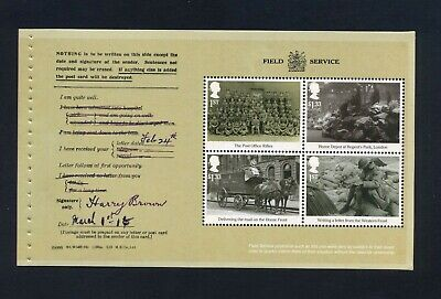GB 2016 Booklet pane FIRST WORLD WAR 1916 SG 3844a  MNH / UMM FV£4.06