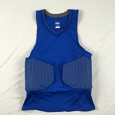 Nike - Men'sBlue Padded Compression Sleeveless Shirt (M) - Used