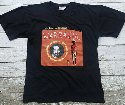 Vintage 90s John Williamson Warragul Tee T-Shirt Size L Signed Country Music