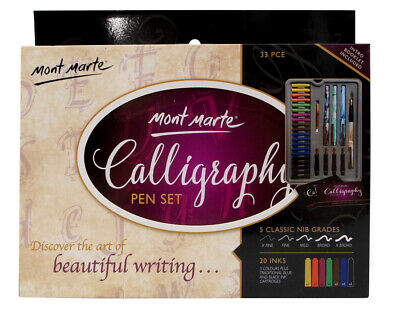 Mont Marte Calligraphy Set - Metal Tin 33pc