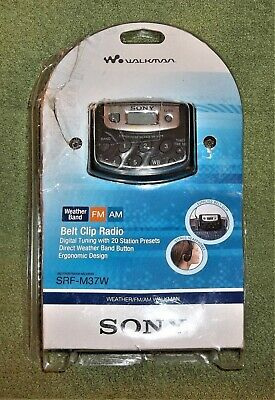 Sony SRF-M37W Walkman Digital Tuning Weather/FM/AM Stereo Radio SRFM37W Open Box