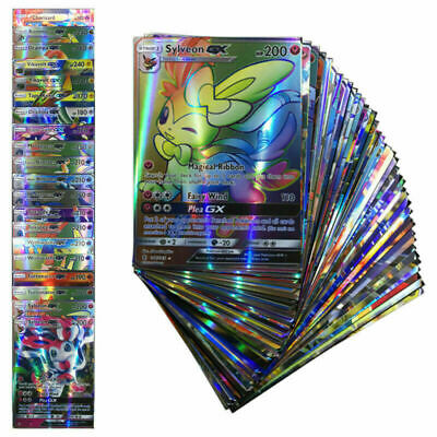 GX EX Mega Pokemon Cards Pikachu Bundle Rare Flash Holo Trading TCG Card Set UK
