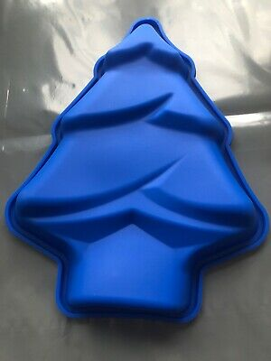 "Silicone Christmas Tree Mould 10"" x 8"" Xmas Cake"