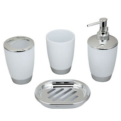 4Pcs Plastic Home Bathroom Bath Accessories Cup  Toothbrush Holder Soap Dish hot
