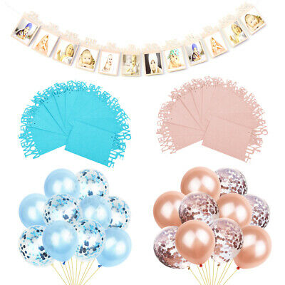 Baby Shower Party Banner Boy Girl Decorations Banners Confetti Latex Balloons UK